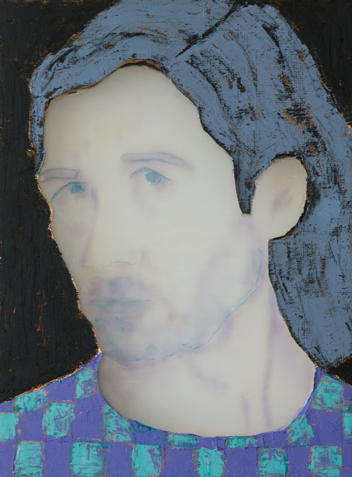 Man (Gray Hair), 2018