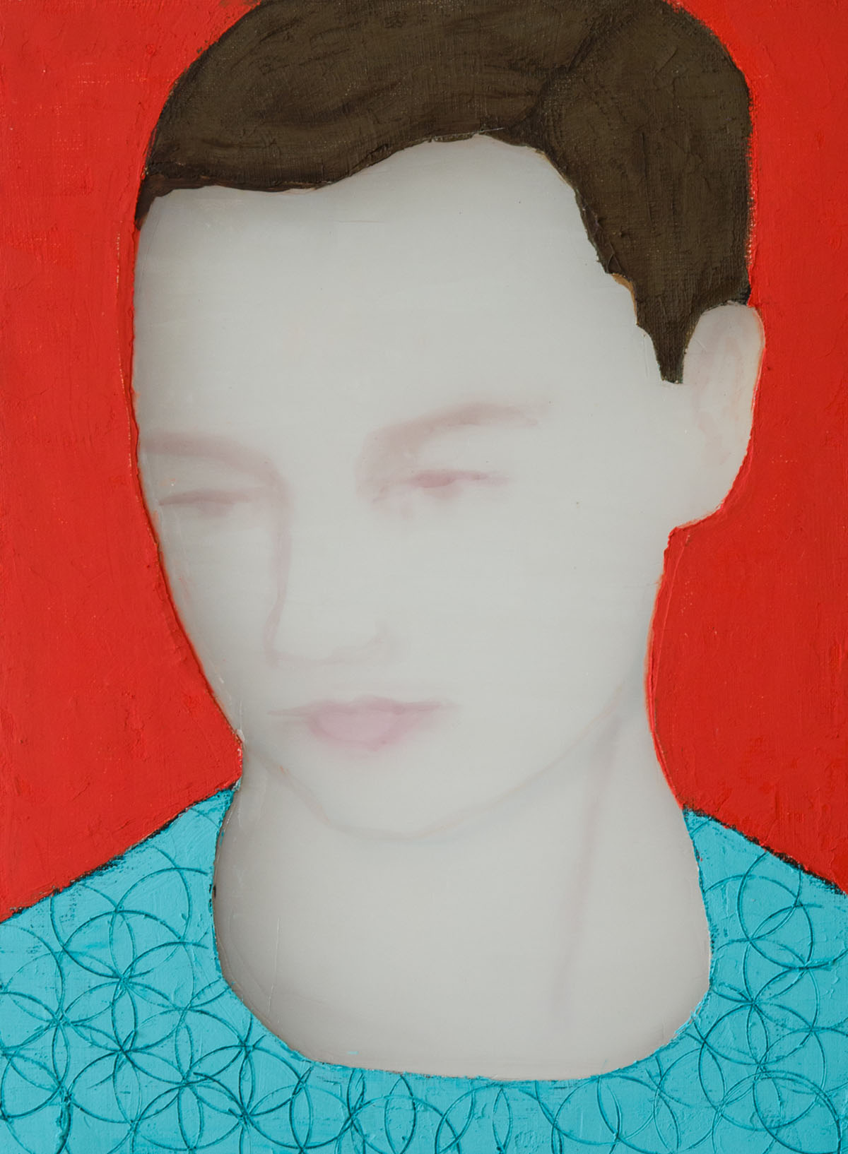 Woman (red background), 2018